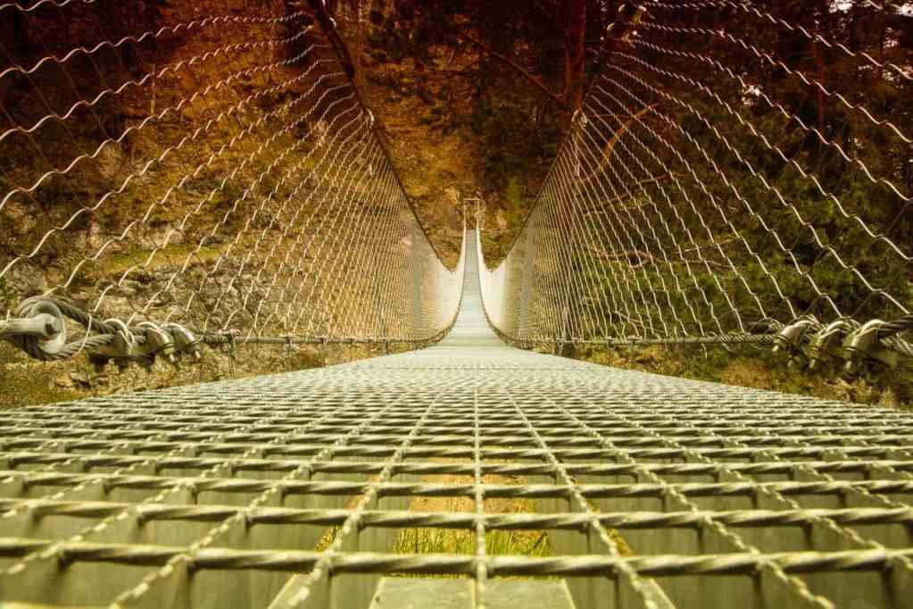 Hängebrücke am Leitersteig