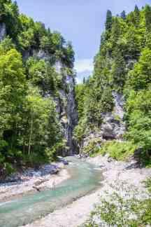 Ende der Klamm im Wettersteingebirge