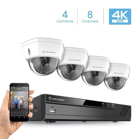 Amcrest 8 channel 4k security kit