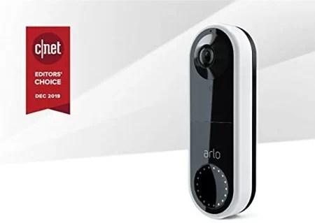 Arlo video doorbell with siren