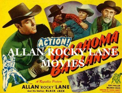 ALLAN ROCKY LANE MOVIES