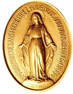 Anverso  de la Medalla Milagrosa
