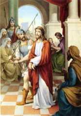 1ª ESTACIÓN: JESÚS SENTENCIADO A MUERTE