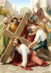3ª ESTACIÓN: JESÚS CAE, POR PRIMERA VEZ, BAJO EL PESO DE LA CRUZ
