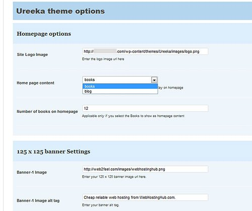 Ureeka Theme Option