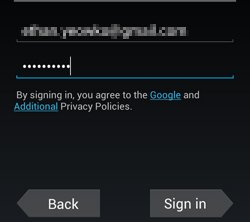 G Sign in Screen