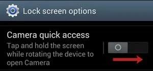 Camera Quick Access