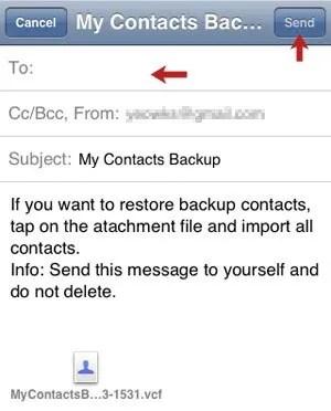 Send Backup File