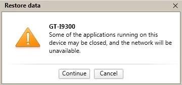 Application Close Message
