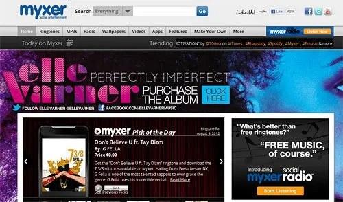 Myxer Website