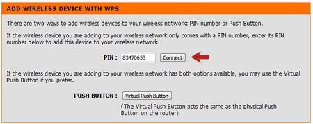 Add Wireless Device with WPS PIN