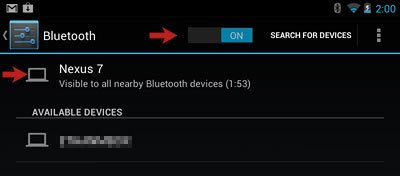 Bluetooth Screen