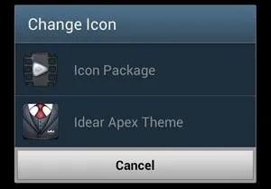 Change Icon Option