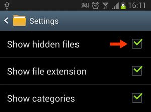 My Files Settings