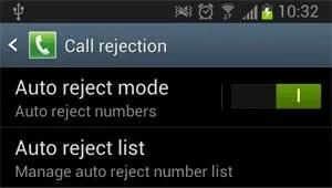 auto reject mode option