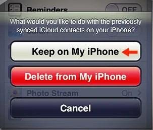 keep on my iphone option