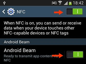 nfc galaxy s4 how to use