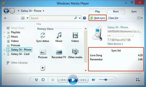 windows media player sync_list