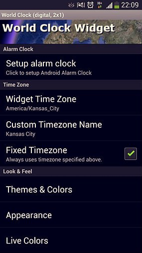 ⦁ Download World Clock Widget for Android