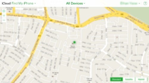 icloud find my iphone map
