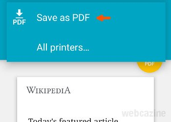 how to save a website as a pdf edge