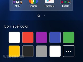 zenfone icon label colors