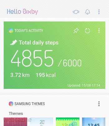 galaxys8 bixby step count