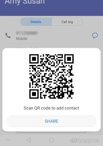 contact QR codes