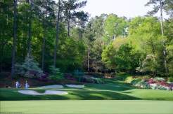 The 12th green and 13th tee at Augusta