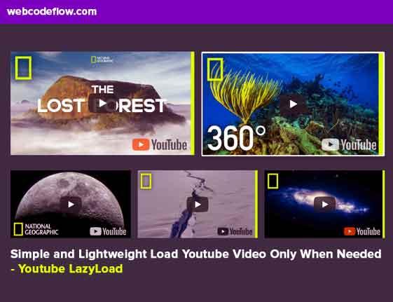 Lightweight-Load-Youtube-Video