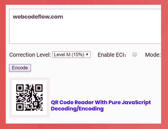 QR-Code-With-Pure-JavaScript