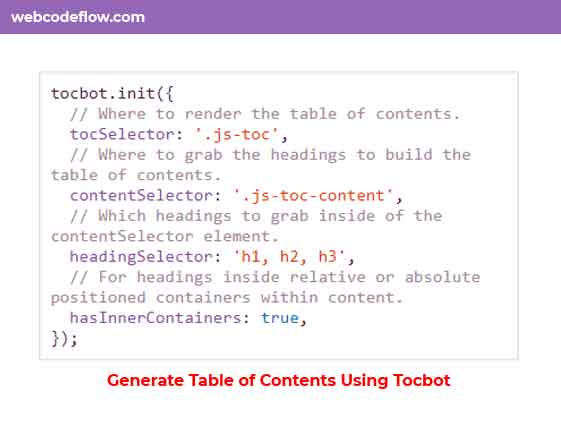 Table-of-Contents-Using-Tocbot