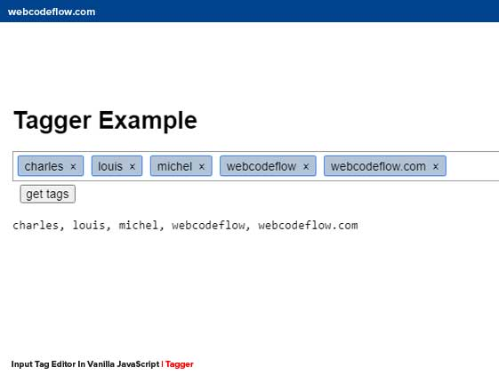 Input-Tag-Editor