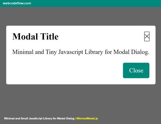 Modal-Dialog-MinimalModal