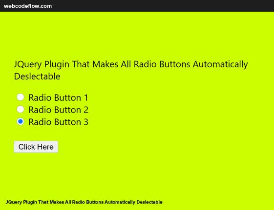 Radio-Buttons-Automatically-Deslectable