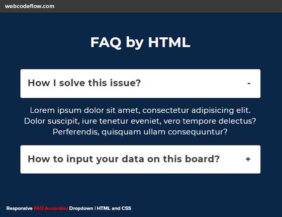 Responsive-FAQ-Accordion-Dropdown