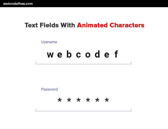Text-Fields-With-Animated-Characters