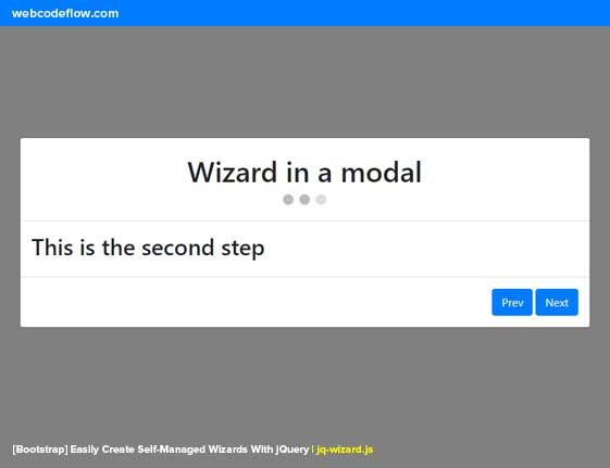 jQuery-Multi-Step-Wizard