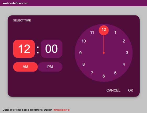 DateTimePicker-based-on-Material-Design