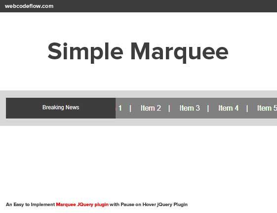 Simple-Marquee-Plugin