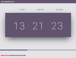 Digital-Clock-with-Dynamic-Progress-Bar