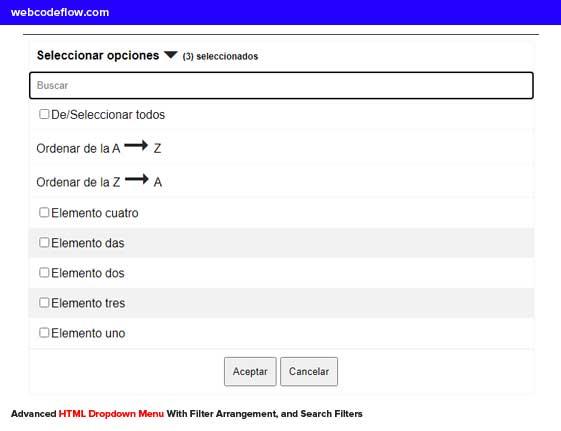 Advanced-HTML-Dropdown-Menu
