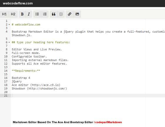Bootstrap-Markdown-Editor
