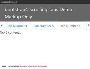 bootstrap4-scrolling-tabs