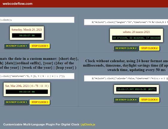 multilingual-digital-clock-plugin