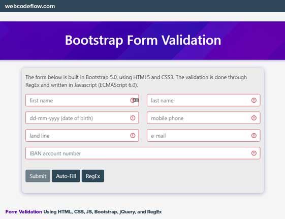 Bootstrap-5-form-validation