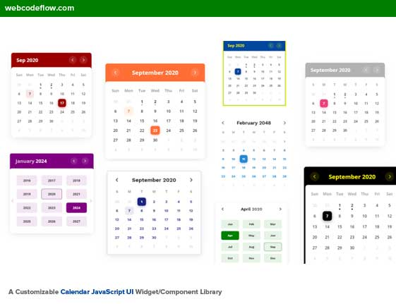 color-calendar-component-library