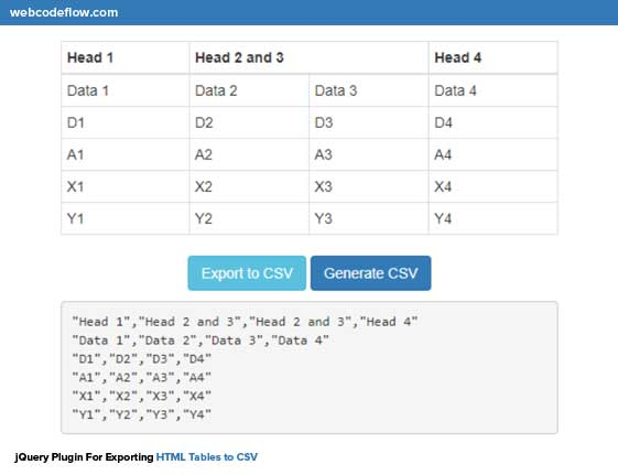 jquery-table-to-csv