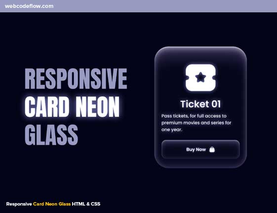 responsive-neon-glass-cards