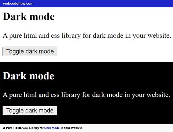 dark-mode-html-css-library